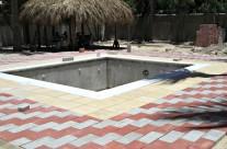 Cabeza de Toro: Adobloques y mosaicos empleados